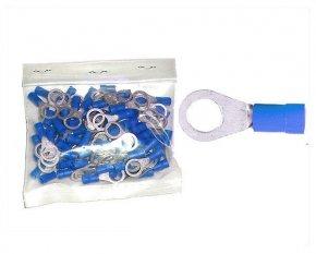 Kabelschuhe Ring 8,4mm blau 1,5-2,5 mm² 100 Stück
