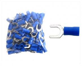 Kabelschuhe Gabel M6 blau 100 Stück