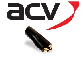 Kabelschuh Flachstecker f. Lautsprecher uvm. 2,8mm schwarz
