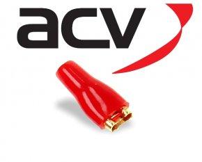 Kabelschuh Flachsteckhülse bis 2.5 mm² 4.8 mm rot