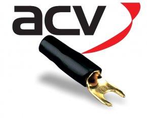 Kabelschuh Gabel 10 mm² schwarz