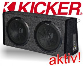 Kicker Aktiv Doppel Subwoofer Box PHD12