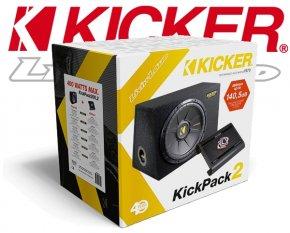 Kicker 1000W Car Hifi Set Subwoofer Endstufe KPX500.2