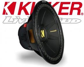 Kicker Subwoofer Bass CompD CWD154 2x 4ohm 1200W 38cm