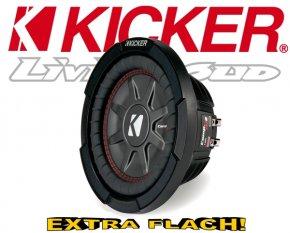 Kicker Subwoofer flach CompRT CWRT82-43 2x 2ohm 600W 20cm