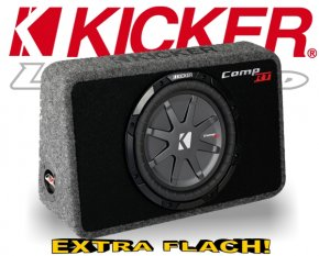 Kicker Subwoofer TComp RT104 flache Bassbox
