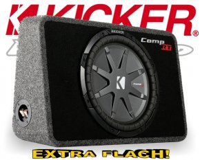 Kicker Subwoofer TComp RT124 flache Bassbox