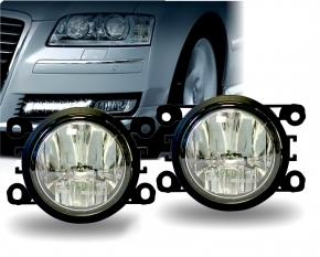 LED Tagfahrlicht Tagfahrleuchten mit Nebelleuchte rund Typ DRL7V-5W 70mm