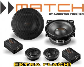 Match Auto Lautsprecher Set 100mm 35W MS42C