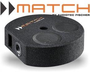 Match 2x 7 16,5cm Plug&Play Reserverad-Subwoofer PP 7S-D