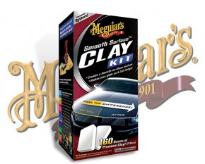 Meguiars Smooth Surface Clay Kit Lackreinigung Set G-1016
