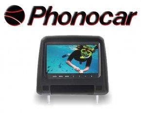 Universal Kopfstütze Kunstleder schwarz mit 7 Monitor
