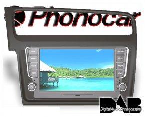 Phonocar VW Golf 7 Navi 8 Tochscreen DAB+ DVD Bluetooth USB GPS grau