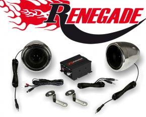 Renegade Motorrad und Roller Hifi Komplettanlage RXA 100 C chrom