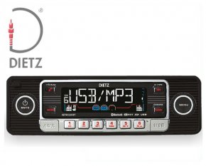 Retro Autoradio USB Bluetooth CD SD für Oldtimer Farbe schwarz