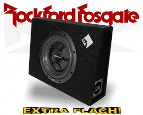 Rockford Fosgate Prime R2 Subwooferbox R2S-1x10 extra flach