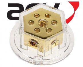 Verteilerblock 2x50/4x20 für Stromkabel / Powerkabel