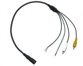 Adapterkabel Rückfahrkamera 4pol Mini DIN auf Cinch