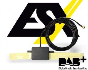 ESX aktive DAB+ Antenne mit SMA-M Stecker