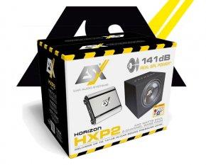 ESX 440 W Car Hifi Set Subwoofer Bass Endstufe HXP2