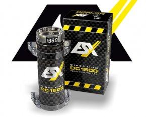 ESX Power-Cap Puffer-Elko Kondensator 1.5 Farad DC1500 mit Anschluß-Verteilerblock