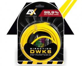 ESX Endstufen Anschlußkabel Vollkupfer Kabel Set 5m+1m ESX DWK6
