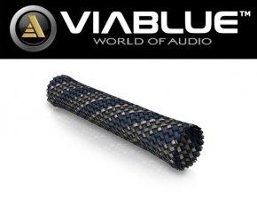 ViaBlue Geflechtschlauch Cable Sleeve Blue Big Meterware