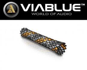 ViaBlue Geflechtschlauch Cable Sleeve Kabelschutzschlauch Orange Small Meterware