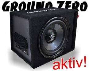 Ground Zero Aktiv Subwoofer Bassbox Basslautsprecher GZIB 300XBR ACT 30cm 300W