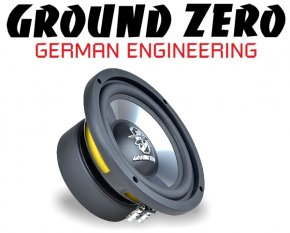 Ground Zero Subwoofer Bass GZIW 165X II 16.5cm 300W