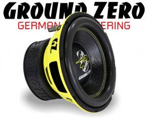 Ground Zero Subwoofer Bass GZRW 10XSPL 25cm 1200W