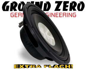 Ground Zero Subwoofer Bass extra flach GZTW-12F 30cm 700W