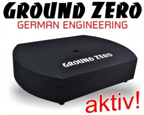 Ground Zero Aktiv Subwoofer Reserverad Bassbox GZCS-10SUB-ACT 20cm 300W