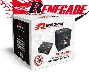Renegade Car Hifi Set Subwoofer mit Endstufe 550W
