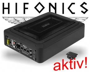 Hifonics Aktiv Auto Subwoofer Untersitz MRX168A 200W