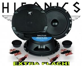 Hifonics Brutus Auto Lautsprecher extra flach BRX6.2C 200W
