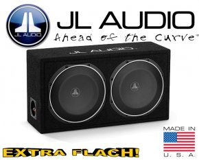 JL Audio Auto Subwoofer Bassbox flach 600W 2ohm CS210LG-TW1
