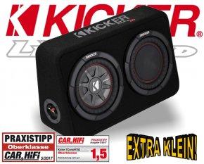 Kicker Subwoofer TComp RT82 extra kleine Bassbox 600W 2ohm