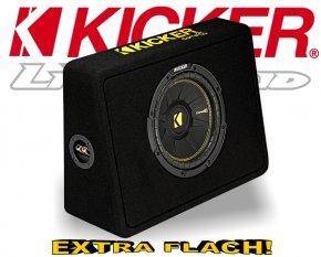 Kicker Subwoofer Bassbox TCompC TCWC104 4ohm 600W 25cm