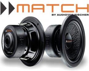 Match Subwoofer Auto 165mm 100W 2 Stück PP 72W-D