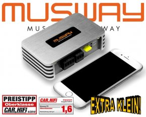 Musway Micro Verstärker Endstufe P2 2x 210W 1x 420W