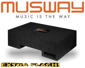 Musway Subwoofer Bassbox Bassreflex Downfire extra flach 400W MF-108Q