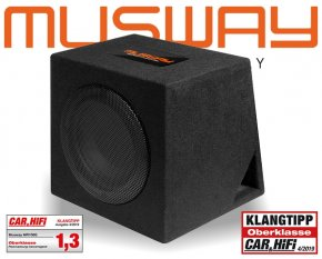 Musway Subwoofer Bassbox Bassreflex 400W MR-108Q