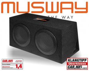 Musway Subwoofer Bassbox Bassreflex 600W MR-206Q