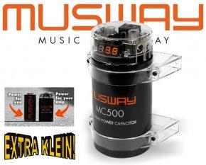 Musway Power-Cap Puffer-Elko Kondensator für Digital-Endstufen 0.5 Farad MC500