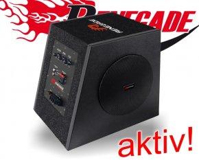 Renegade aktiv Auto Subwoofer Bassbox RX800A 20cm 200W