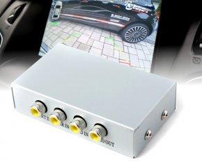 Monitor Splitter 3x AV in 1x AV out  Rück-/Front-Kameras DVD