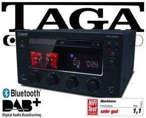 Taga Stereo System mit Röhrenverstärker DAB+ Bluetooth CD Player HTR-1000CD