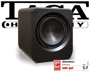 Taga Lautsprecher Aktiv Subwoofer Bass Heimkino Platinum v.3 SW-10 modern wenge