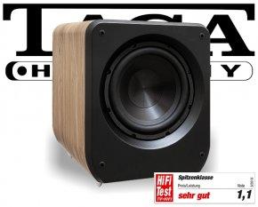 Taga Lautsprecher Aktiv Subwoofer Bass Heimkino Platinum v.3 SW-10 oak